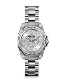 Breil - Manta Stainless Steel & Crystal Bracelet Watch