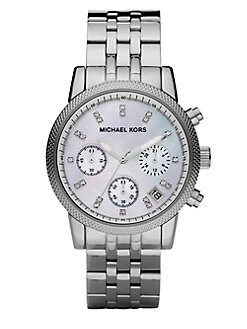 Michael Kors - Crystal & Stainless Steel Chronograph Watch