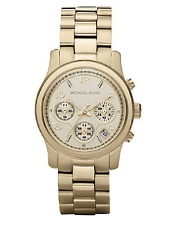 Michael Kors - Stainless Steel Chronograph Watch/Goldtone
