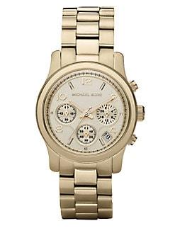 Michael Kors - Runway Goldtone Stainless Steel Chronograph Bracelet Watch