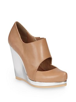 5/48 - Salome Wedge Ankle Boots/Natural