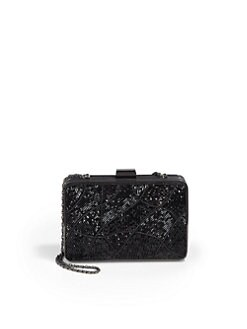 BLACK Saks Fifth Avenue - Bailey Beaded Box Clutch