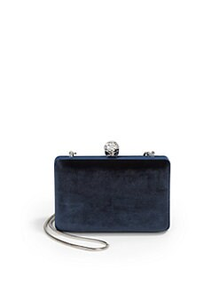 BLACK Saks Fifth Avenue - Isabel Velvet Miniaudiere/Navy