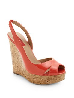 RED Saks Fifth Avenue - Carolee Slingback Wedge Sandals