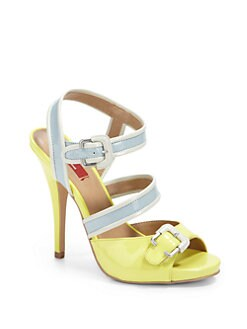 RED Saks Fifth Avenue - Jafara Strappy Colorblock Sandals