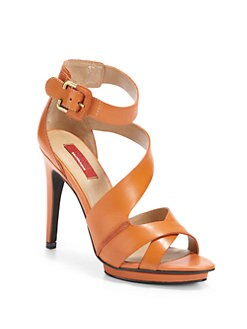 RED Saks Fifth Avenue - Whimsical Leather Strappy Sandals