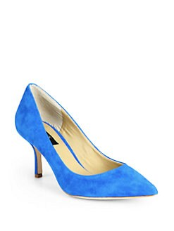 BLACK Saks Fifth Avenue - Sophia Suede Pumps