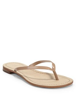 BLACK Saks Fifth Avenue - Glory Thong Flat Sandals