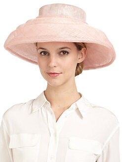 BLACK Saks Fifth Avenue - Sinaway Straw Wide Brim Tiered Hat
