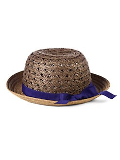 BLACK Saks Fifth Avenue - Ribbon-Trimmed Paper Straw Hat