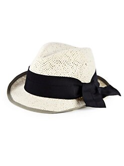 GRAY Saks Fifth Avenue - Birkit Woven Hat