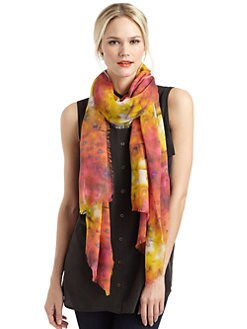 GRAY Saks Fifth Avenue - Watercolor Floral Scarf/Orange