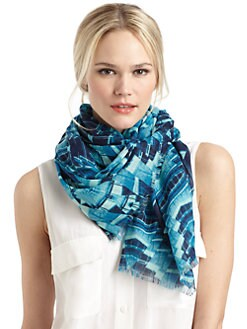 GRAY Saks Fifth Avenue - Crystal-Print Scarf