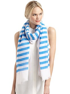 GRAY Saks Fifth Avenue - Striped Scarf