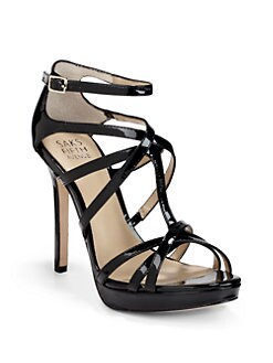 BLACK Saks Fifth Avenue - Austin Patent Leather Strappy Sandals