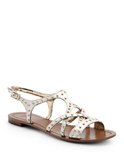 GRAY Saks Fifth Avenue - Gessie Studded Flat Sandals