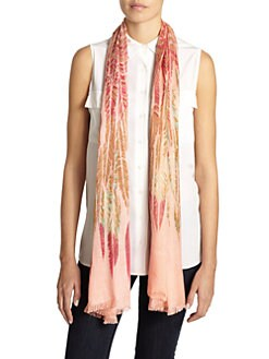 GRAY Saks Fifth Avenue - Feather-Print Scarf/Pink