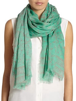 GRAY Saks Fifth Avenue - Safety Pin Frayed Scarf