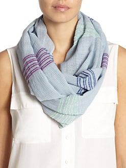 BLUE Saks Fifth Avenue - Daytime Weave Loop Scarf/Blue