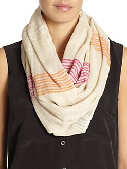 BLUE Saks Fifth Avenue - Daytime Weave Loop Scarf/Citrus