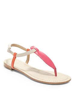 BLACK Saks Fifth Avenue - Gillie Colorblock Flat Thong Sandals