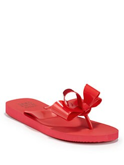 BLUE Saks Fifth Avenue - Galla Bow Flip Flops