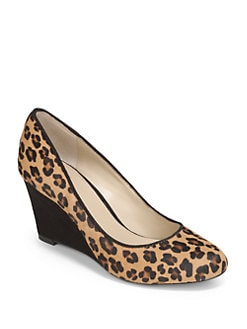 BLUE Saks Fifth Avenue - Astor Haircalf & Suede Wedge Pumps