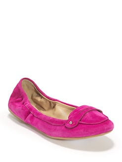 BLACK Saks Fifth Avenue - Teresa Suede Moccasin Flats