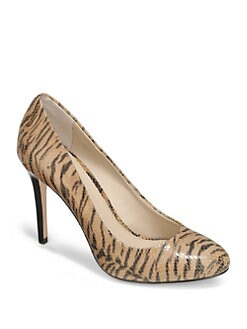 BLACK Saks Fifth Avenue - Bellinda Tiger Print Leather Pumps