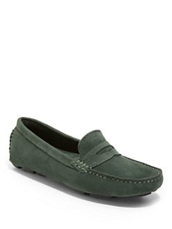 BLACK Saks Fifth Avenue - Nubuck Penny Loafers