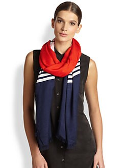 Kate Spade New York - Striped Colorblock Scarf