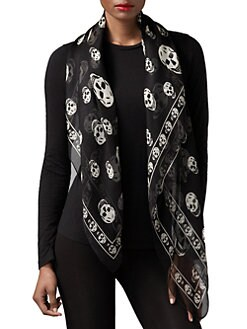 Alexander McQueen - Skull Silk Chiffon Scarf