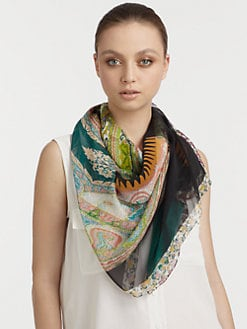 Etro - Silk Bombay Kaleidoscope Print Scarf