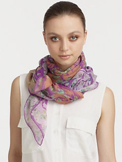 Etro - Silk Bombay Ombr&#233; Cherry Blossom Scarf