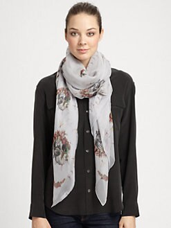 Alexander McQueen - Skulls, Dragonflies & Birds Shawl