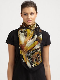 Alexander McQueen - Silk Dragonfly Skull Shawl