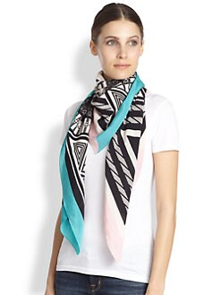 A Peace Treaty - Ezurum Ecru Silk Scarf