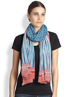 A Peace Treaty - Kivark Mint Silk Scarf