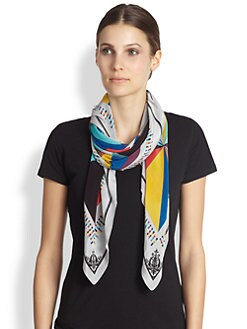 A Peace Treaty - Constellation Ecru Silk Scarf
