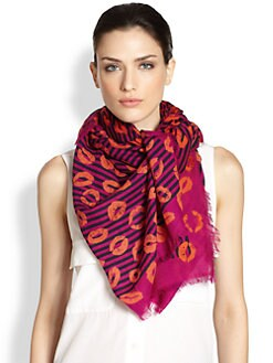 Marc by Marc Jacobs - Stripey Lips Scarf