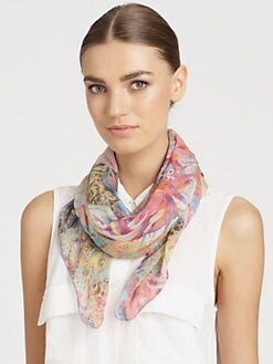 Bindya - Mystic Flower Silk Scarf
