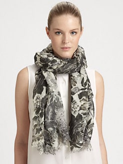 Stella McCartney - Floral Print Silk Blend Scarf