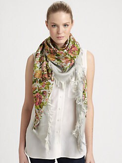 Stella McCartney - Floral Jacquard Printed Scarf