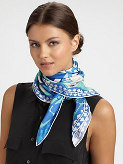 Emilio Pucci - Silk Azalle Print Twill Scarf