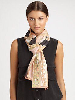 Emilio Pucci - Zagare Print Cotton & Silk Scarf