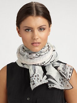 Emilio Pucci - Azalle Print Cotton & Linen Scarf
