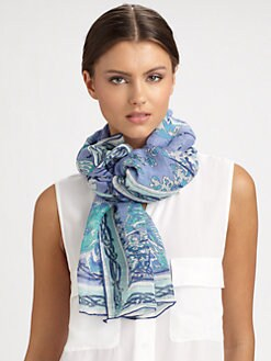 Emilio Pucci - Papillon Print Scarf