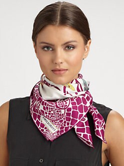 Emilio Pucci - Sylvan Print Silk Twill Square Scarf