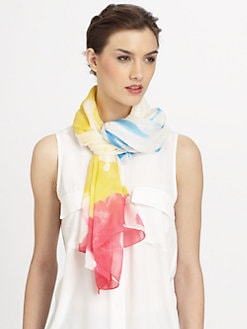 Diane von Furstenberg - Washed Chiffon Silk Scarf