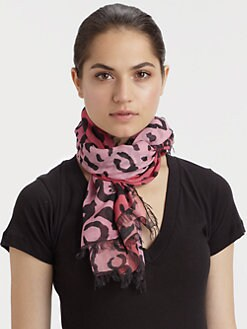 McQ Alexander McQueen - Animal Print Scarf